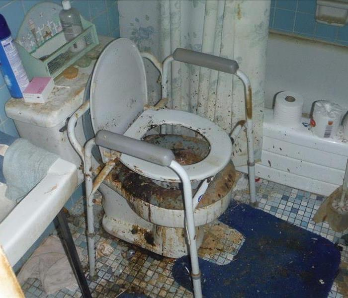 Filthy Bathroom Before